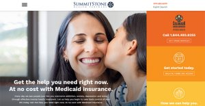 SummitStone Health Partners new website homepage